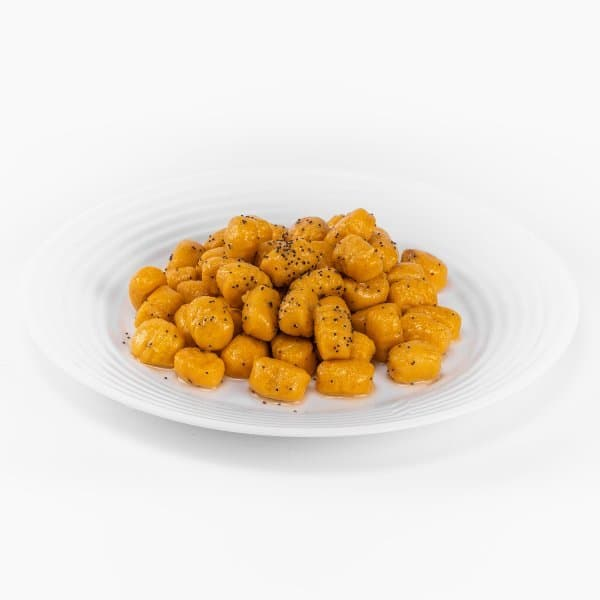 gnocchi di zucca burro e semi di papavero